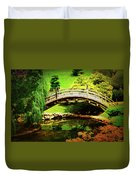 Moon Bridge At Huntington Duvet Cover