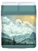 Moon By Day Duvet Cover