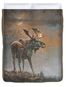 Moon Dusted Moose Duvet Cover