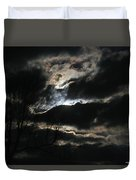 Moon In The Clouds Over Kentucky Lake Duvet Cover
