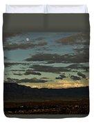 Moon Over Albuquerque Duvet Cover