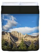 Moon Over Canmore Alberta Duvet Cover