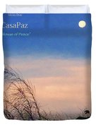 Moon Over Casapaz Duvet Cover