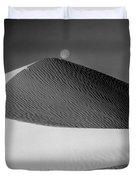 214804-bw-moon Over Dune  Duvet Cover