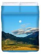Moon Over Electric Mountain Duvet Cover