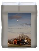 Moon Over Engine 509 Duvet Cover