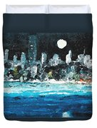Moon Over Miami Duvet Cover by Jorge Delara