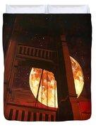 Moon Over The Bridge  Duvet Cover by Joel Tesch