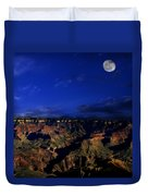 Moon Over The Canyon Duvet Cover