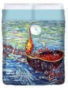 Moon Over The Ocean Duvet Cover