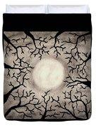 Moon Over Trees Duvet Cover