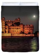 Moon Over Udaipur Duvet Cover