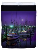 Moon Over Winchester Bay Duvet Cover