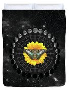 Moon Phase Pendulum With Butterfly  Duvet Cover