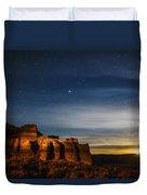 Moon Rise At Pillars Of Rome, Oregon, Usa Duvet Cover