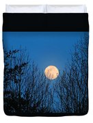 Moon Rising In The Trees Duvet Cover