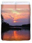 Moon River Silhouette Duvet Cover