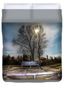 Moon Shadow Iroquois Point -1462 Duvet Cover