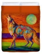 Moon Talk - Coyote Duvet Cover