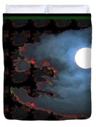 Moon Through Clouds  Photography With Graphic Flavour Created By Navinjoshi At Fineartamerica.co Duvet Cover