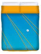 Moon Through The Wires Duvet Cover