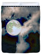 Moon Walk By The Clouds Duvet Cover