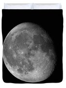 Moon Waning Gibbous Against Black Night Sky High Resolution Image Duvet Cover
