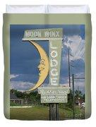 Moon Winx Lodge Sign Duvet Cover