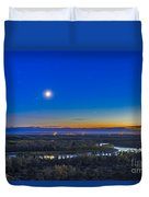 Moon With Antares, Mars And Saturn Duvet Cover