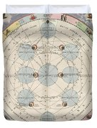 Moon With Epicycles Harmonia Duvet Cover
