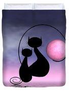Mooncat's Love Duvet Cover