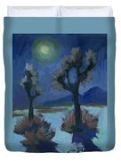 Moonlight And Joshua Tree Duvet Cover