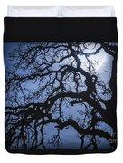 Moonlight And Oak Tree Duvet Cover