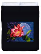 Moonlight And Roses Duvet Cover