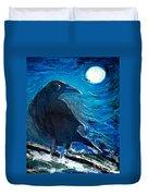 Moonlight Crow Duvet Cover