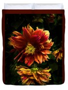 Moonlight Dahlia Duvet Cover
