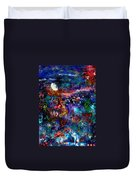 Moonlight Gardens Winter Duvet Cover