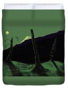 Moonlight In The Rockies Duvet Cover