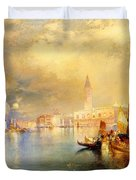 Moonlight In Venice Duvet Cover