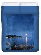 Moonlight On Mackinac Island Michigan Duvet Cover