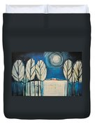 Moonlight On The First Snow Duvet Cover