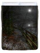 Moonlight On The River Bank Duvet Cover