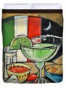 Moonlight Over Margaritaville Duvet Cover