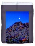Moonlight Over Peggy's Mountain Duvet Cover