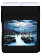 Moonlight Over Port Of Spain Duvet Cover