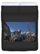 Moonlit Bridalveil  Falls-yosemite Valley Duvet Cover