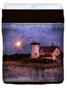 Moonlit Harbor Duvet Cover