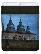 Moonlit Monastery Duvet Cover