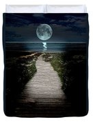 Moonlit Night At The Beach Duvet Cover
