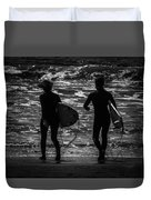 Moonlit Stroll Duvet Cover